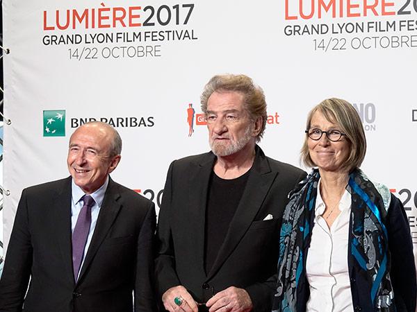 Gérard Colomb, Eddy Mitchell et Françoise Nyssen