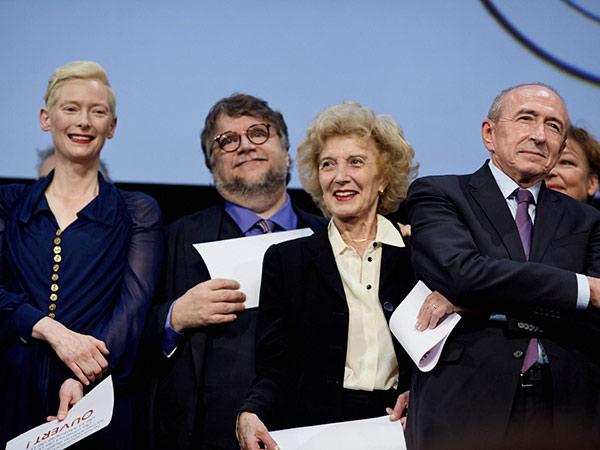 Tilda Swinton, Guillermo Del Toro, Marisa Paredes et Gérard Collomb