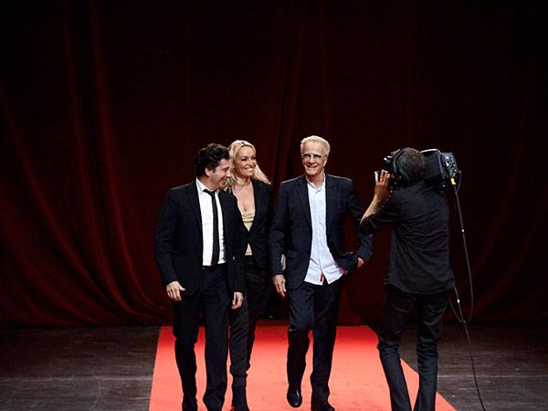 Laurent Gerra, Christelle Bardet et Christophe Lambert