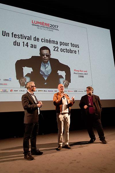 Thierry Frémaux, Jean-Paul Salomé et Guillermo Del Toro