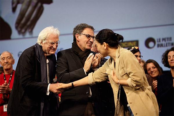 Bertrand Tavernier, David Kimelfeld et Esther Wong