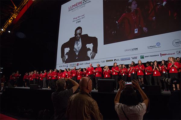 Les bénévoles du festival Lumière 2017